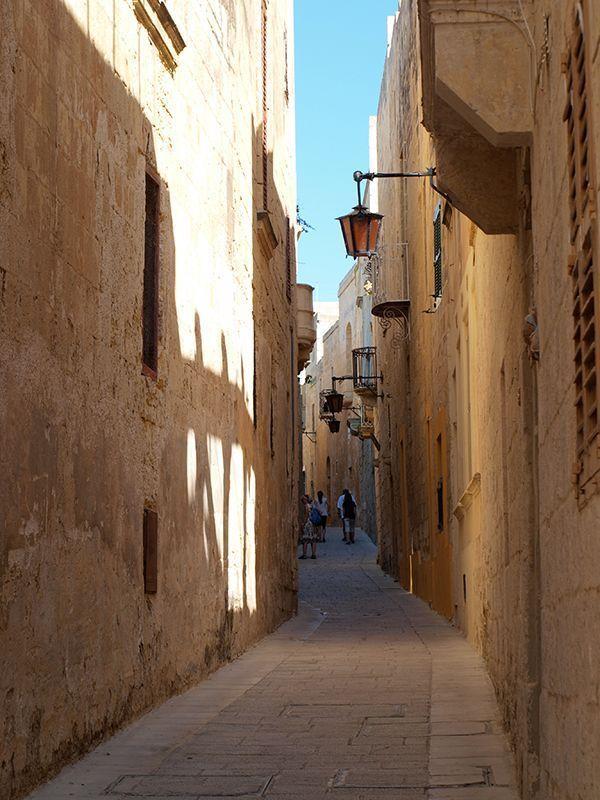 Estructura urbana de Gozo. Malta