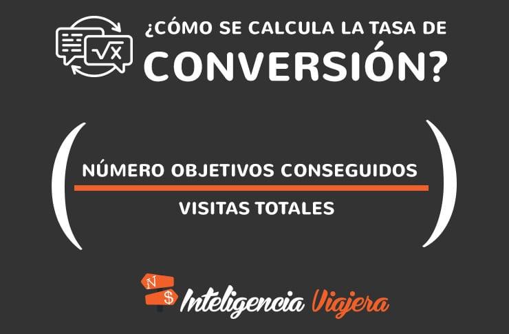 Fórmula para calcular la tasa de conversión