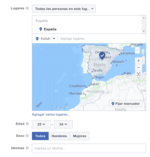 Públicos en Facebook Ads manager