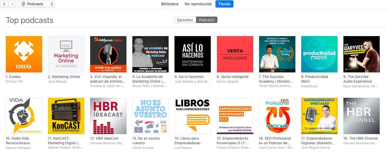iTunes TOP 3 podcast vivir viajando