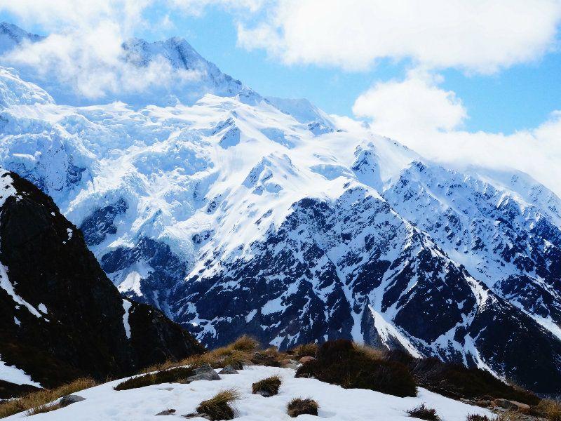 Sealy Tarns en Nueva Zelanda