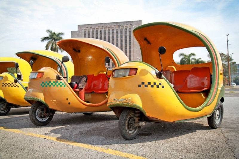 Cocotaxi en Cuba para turismo