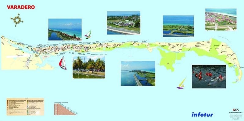 Mapa para viaje a Cuba y Varadero