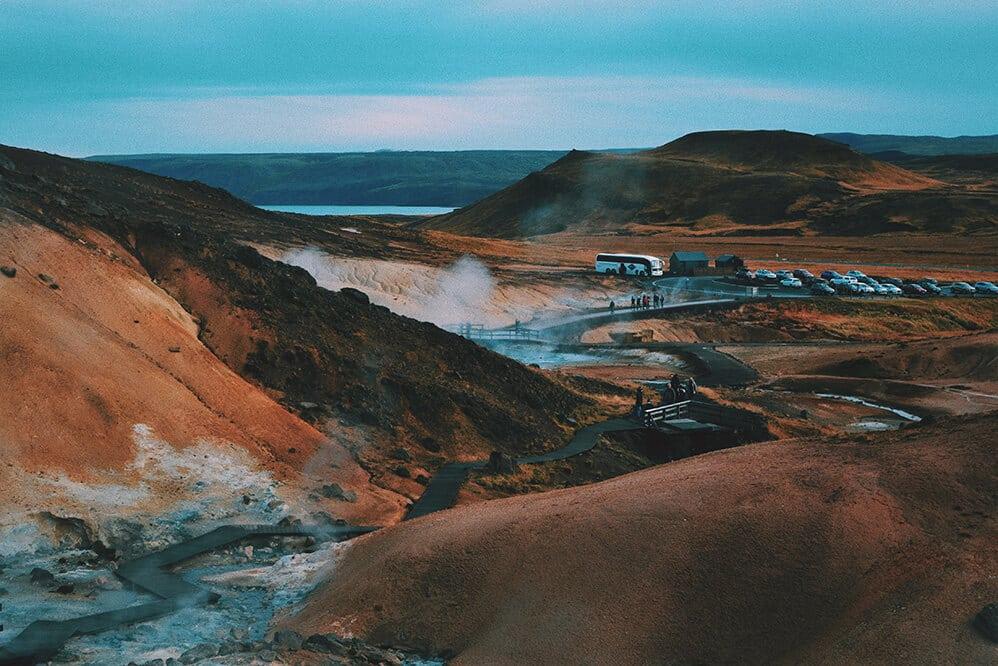 que ver en islandia: zona geotermica krisuvik