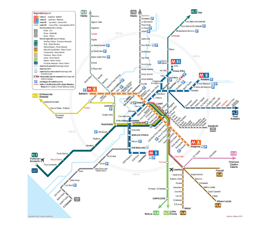 plano del metro de roma